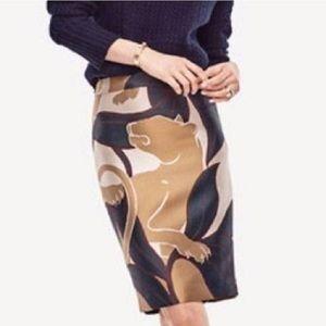 NWT Ann Taylor Jungle Cat Pencil Skirt Sz 10